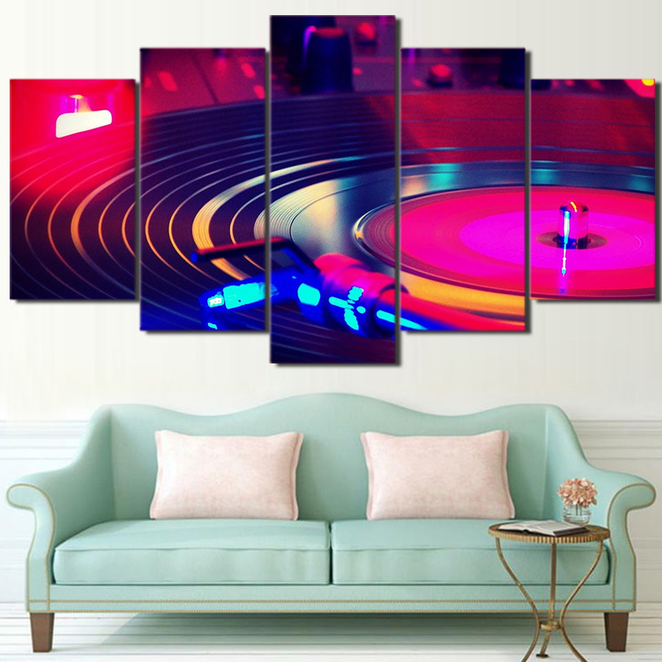 HD Printed 5 Piece Canvas Art CD-ROM Painting Music Poster Wall Pictures