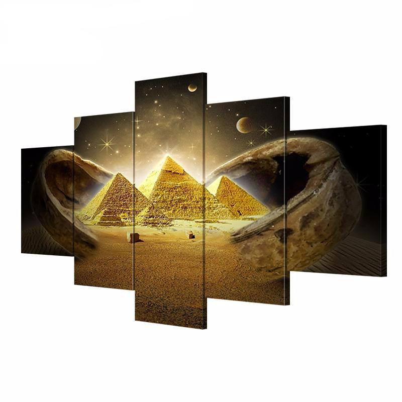 5 Art Canvas Painting Egyptian Pyramid Picture HD Print