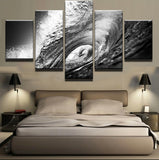 5 Panel Printed Rolling Gray Billows Landscape Modular Picture Painting Canvas Wall Art Picture