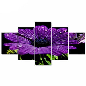 Beautiful Flowers Pictures and Posters HD Print 5 Canvas Painting Wall Art Set