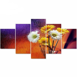 5 Canvas Art Painting Set Beautiful Flower Photo Painting HD Print