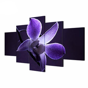 5 Panel Wall Art Painting Dendrobium Flower Picture HD Print on Canvas
