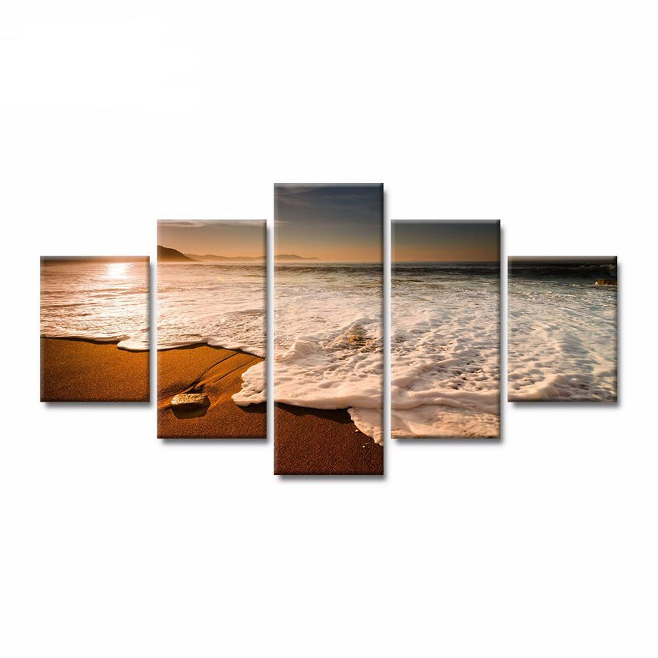 Modern Canvas Art Painting 5 Beach Sunset Landscape Poster HD Canvas