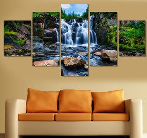 5 pieces Waterfall Canvas Painting Decor Canvas Art HD Print Picture