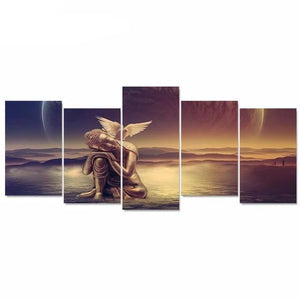 5 Canvas Modern Art Picture Buddha Painting Picture HD Print