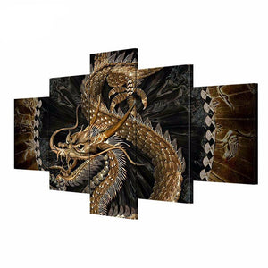 5 Wall Art Canvas Painting Chinese Dragon Picture HD Print