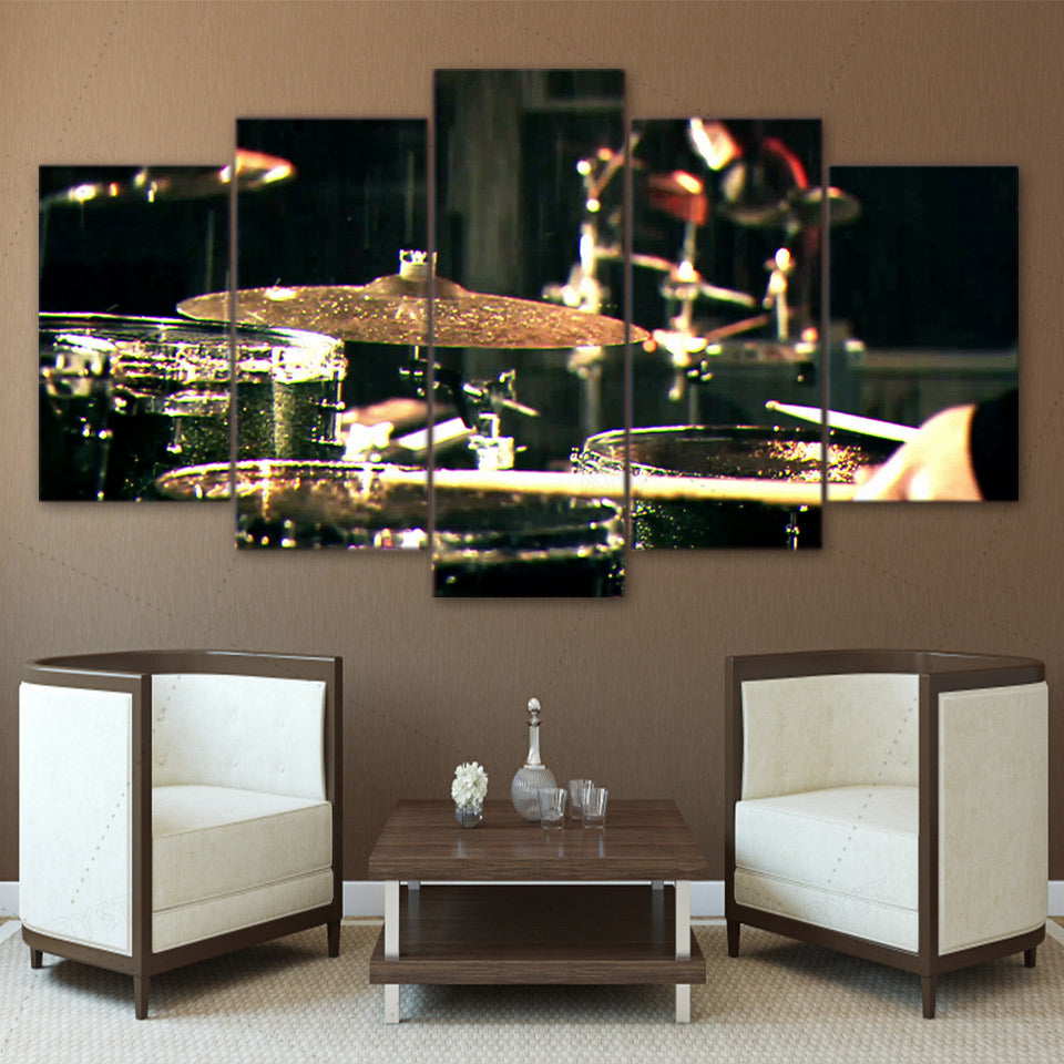 Canvas Paintings Printed Drummms Musical Instruments Wall Art Canvas Modular