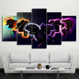 HD Printed 5 Piece Canvas Art Abstract Shining Pony Painting Modular Wall Pictures
