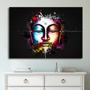 HD Printed 1 Piece Canvas Art Buddha Watercolor Face Painting Prints Wall Pictures