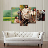 Modern Canvas Wall Art Pictures 5 Pieces Jesus Pueblo Paintings Modular HD Prints Posters