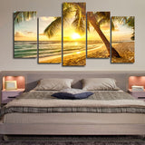 Modular Canvas Paintings Wall Art HD Prints Pictures 5 Pieces Tree Light Purple Autumn Posters