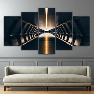 Canvas Paintings Wall Art HD Prints Pictures 5 Pieces Beautiful Building London Tunnel Subway Lights Poster