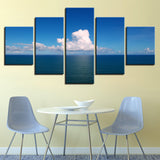 Pictures Wall Art HD Prints Canvas 5 Pieces Blue Sky White Clouds Sea Landscape Paintings Modular Posters