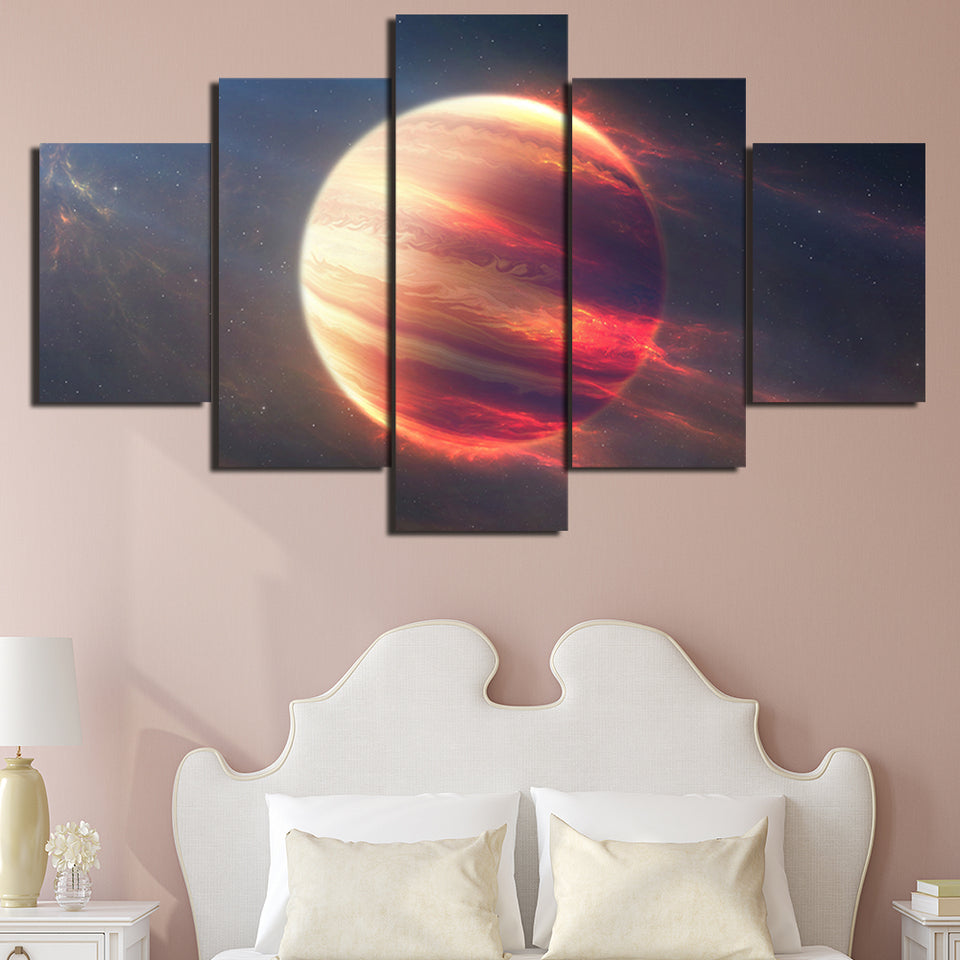 Wall Art Canvas Painting Modular Pictures Home Decor HD Printed 5 Panels Earth Space Moon Planet Landscape Poster