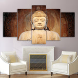 Modern Home Wall Art Decor Modular Canvas Pictures 5 Pieces Buddha Statue Painting HD Prints Buddha Art Poster