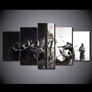 5 Piece Canvas Art HD Print Rainbow Six Siege Game Prints Paintings Living Room Wall Print
