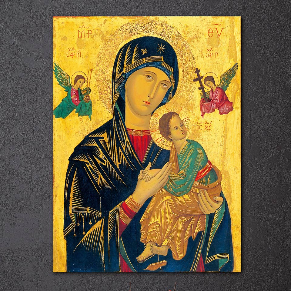 HD Printed 1 Piece Canvas Wall Art Virgin Mary Painting Jesus Christian Modular Wall Art Canvas Prints