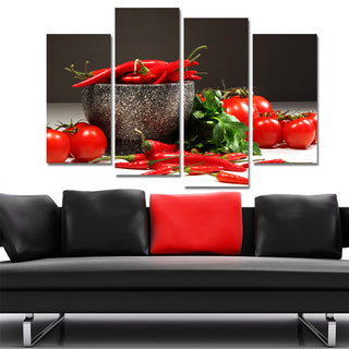 Canvas Print Still Life Painting Cuadros Decoracion Oil Painting Modular Wall Pictures 4 Pieces