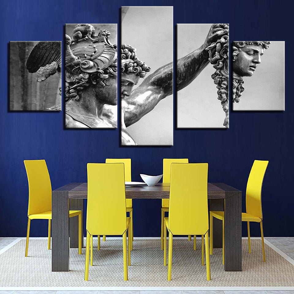Canvas Wall Art Pictures Kitchen Restaurant Decor 5 Pieces Lord Square Portrait HD Printed Poster Painting