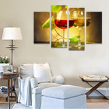4 Pieces HD Prited Red Wine White Wine Canvas Painting Wine-tasting Wall Picture Living Room