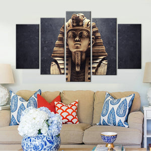 Pictures Canvas Wall Art Decor Painting Egyptian 5 Pieces Pharaoh Poster Portrait HD Printed Photo