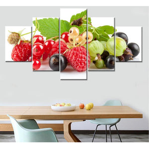 HD Printed Pictures Canvas Wall Art 5 Pieces Fruits Painting Posters
