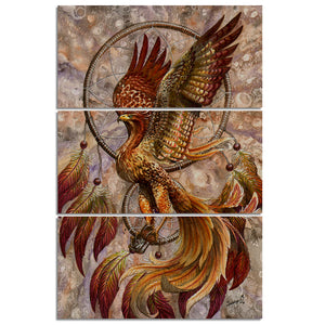 Dreamcatcher by Sunima-MysteryArt HD Print 3 Piece Canvas art Phoenix Dream Catcher Pictures For Living Room Decoration
