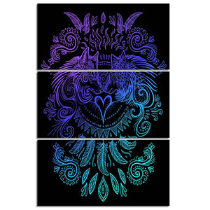 Wolves Heart by Sunima-MysteryArt HD Print 3 Piece Canvas Art Wall Pictures For Living Room Decorative Pictures