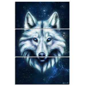 Wolf Head by KhaliaArt HD Print 3 Piece Canvas Art Wall Pictures For Living Room Decorative Pictures