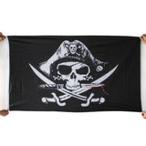 3x5FT Skull and Cross Crossbones Sabres Swords Jolly Roger Pirate Flags With Grommets Decoration Best Deal1pcs