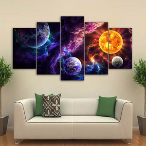 Plan of Salvation by JoJoesArt HD Print 5 Piece Canvas Art 2 Wolf Wolves Wall Art Picture Home Decoration