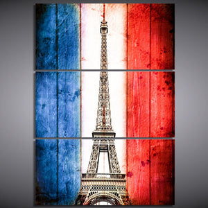 3 Piece Canvas Painting Vintage Paris Eiffel Tower Posters And Prints canvas Living Room