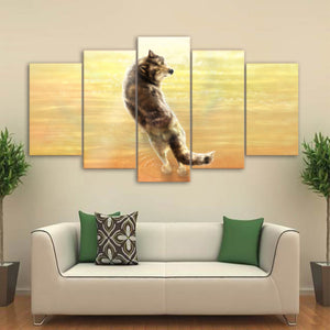 Where It All Began by KhaliaArt HD Print 5 Piece Canvas Art Fox Wall Pictures