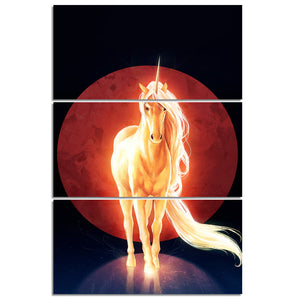 Last Unicorn by JoJoesArt HD Print 3 Piece Canvas Art  Psychedelic Unicorn Home Decoration Wall Pictures
