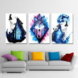 Missing You by Scandy Girl HD Print 1 Piece Canvas Art Wolfs Abstract Wall Pictures For Living Room Poster