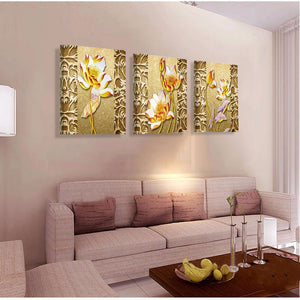 Wall Art Canvas Painting Lotus Cheap Modern Picture Paintings on Canvas Wall Pictures
