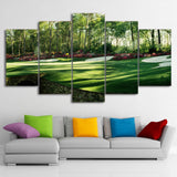 HD Wall Art Canvas Modern 5 Panel Golf Course Landscape Printed Pictures Painting