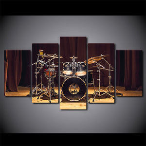 Canvas HD Prints Paintings Wall Art 5 Pieces Rock Music Stage Drums Pictures Modular