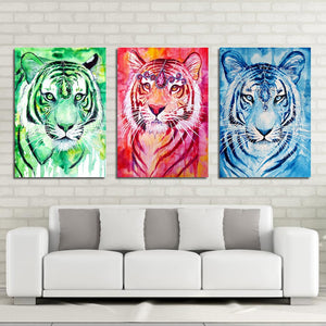 Ruby Tiger by Scandy Girl HD Print 1 Piece Canvas Art Tigers Abstract Wall Pictures For Living Room Poster