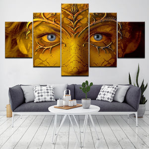 Tableau Wall Art HD Printed Pictures Canvas 5 Pieces Ancient Telescope And Map Modern Paintings Modular