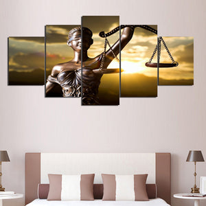 HD Prints Canvas 5 Pieces Goddess Of Justice Painting Modular Living Room Wall Art Pictures