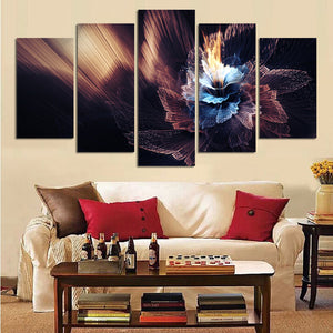Canvas HD Printed Pictures Painting 5 Pieces Fairy Flower Large Poster Wall Art Modular
