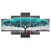 HD Printed 5 Piece Tree Paintings Wall Pictures For Living Room Modular Pictures Home Decoration