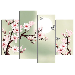 HD 4 Piece Canvas Art Flowers Painting Wall Pictures Living Room Modern Flower Pictures