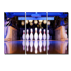 HD Printed Wall Art Framework 3 Piece Bowling Ball Painting Sports Poster Modular Pictures