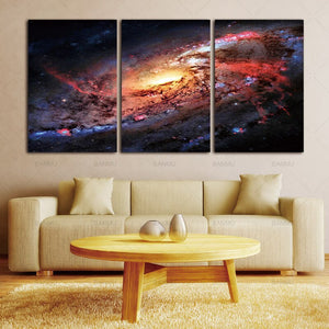 Canvas Print Wall Art Decor Space and Universe Space Landscape Paintings Galaxy Stars 3 Piece Picture Print