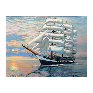 Picture On Wall Acrylic Ships Plain Sailing oil Painting Drawing By Numbers Abstract Gift DIY Amazing Coloring