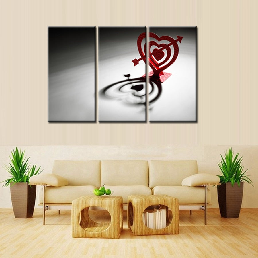 Couple For Modern Home Decoration Love Canvas Painting Bedroom Wall Art 3 Pieces Artwork Bathroom Wall Decor