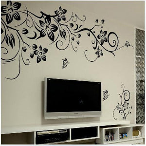 DIY Wall Art Decal Decoration Fashion Romantic Flower Wall Sticker/ Wall Stickers Home Decor 3D