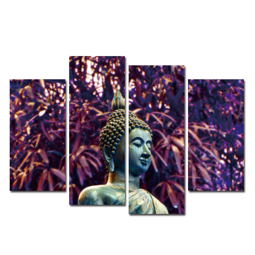 Buddha Painting Meditation Canvas Painting Modern Tree Wall Pictures